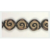 Glass Bead Swirl 12x11mm Strung Bronze/Gold Painted